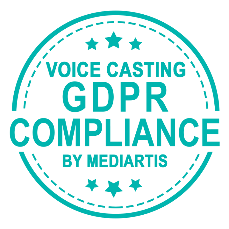 Voice casting GDPR compliance by Mediartis